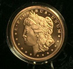5 Oz. Morgan Dollar Copper Round Coin Capsule Stand Display Complete