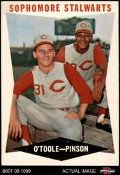 1960 Topps 32 Jim O'toole / Vada Pinson - Sophomore Stalwarts Reds 6 - Ex/mt