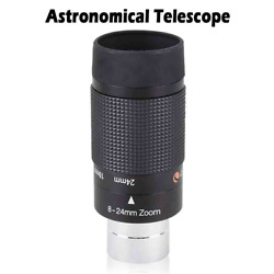 Astronomical Telescope 8-24mm 1.25and039and03931.7mm Hd Zoom Eyepiece Fully Multicoated