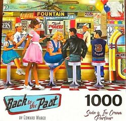 Soda And Ice Cream Parlor New Sealed 1000pc Puzzle 27x20 A Blast From The Past