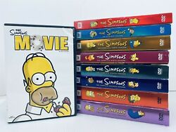 The Simpsons Complete Dvd Seasons 3, 5, 7, 8, 9 10, 11, 12 + The Movie Free Ship
