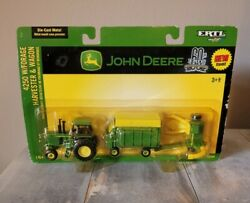 John Deere 4250 W/forage Harvester And Wagon Ertl 1/64th Scale 60th Anniversary 2