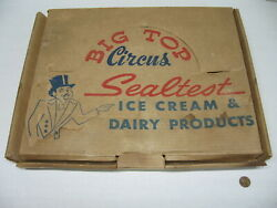 Sealtest Ice Cream And Dairy Big Top Circus Chalkware Wall Hanging Set