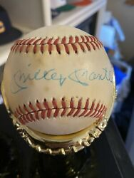 Mickey Mantle Signed Autographed Baseball Psa Authenticated