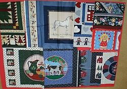 Mixed Lot Of Cotton Fabric Panels Pillows Quilt-tops Wall Hangings