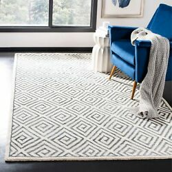 Safavieh Hand-knotted Mosaic Aneeta Modern Wool Rug Beige/grey 5and039 X 8and039