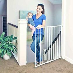 North States 47.85 Tall Easy Swing And Lock Baby Gate Ideal For Stairways Swi