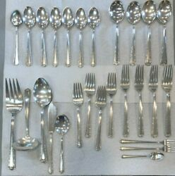 Processional By Fine Arts Sterling Silver Flatware Set -no Knives- 1741.3g 46pc