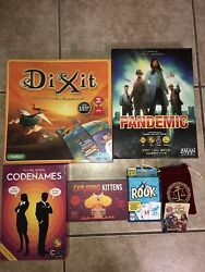 6 Fun Board Games Exploding Kittens Special Addition Rook And Many More