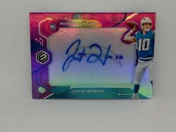 Justin Herbert /10 Panini Nfl Elements Neon Signs Rookie Rpa Auto