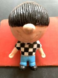 Rare Vintage 1960's Mod Rubber Scooter Boy Squeak Toy Made In England