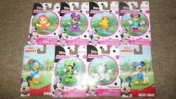 Collectible Disney Junior Minnie Mouse Complete Set Of 6 Mini Figurines