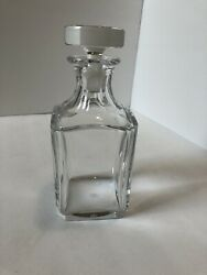 Beautiful Antique Baccarat Crystal Square Decanter + Stopper
