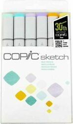 Copic Sketch Dual Tipped Refillable Alcohol Ink Markers 6 COLORS PALE PASTELS