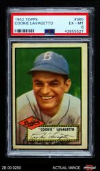 1952 Topps 365 Cookie Lavagetto Dodgers Psa 6 - Ex/mt