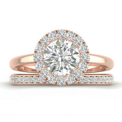 1.46ct H-vs2 Diamond Round Engagement Ring 14k Rose Gold Any Size