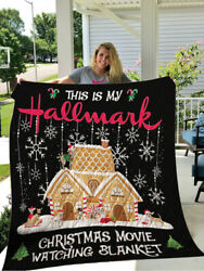 This Is My Hallmark Blanket Christmas Movie Chihuahua Quilt Fleece Sherpa Throw