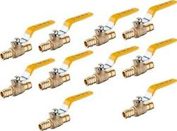 Pack Of 10 Efield 3/4-inch Brass Ball Valve For Pex-a Pipe, F1960 Expansion