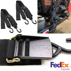 Universal 2x Black 2andrdquowide 4andrdquolong High Quality Transom Tie Downs For Boat Trailer