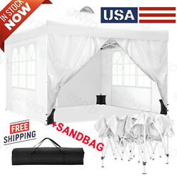 Heavy Duty Canopy Party 10x10 Outdoor Wedding Tent Gazebo With 4 Side Walls Us