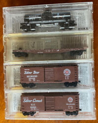 N-scale - Lot4 Qty 4 Micro-trains Freight Cars - Conrail Seaboard And Richfield