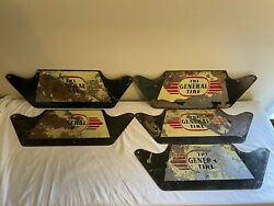 Lot Of 5 Vintage Original The General Tire Service Station Metal Sign Ohio Rare