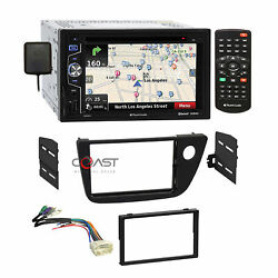Planet Audio Dvd Usb Bt Gps Stereo Dash Kit Amplifier Harness For 02-06 Acura Rs