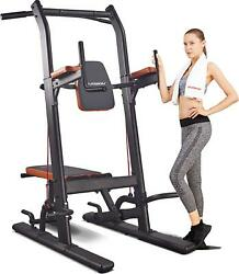Harison Power Tower Pull Up Bar Dip Station With Bench Press For Strength Home