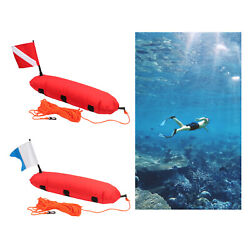 Buoy Float For Scuba Diving Spearfishing Free And Dive Flag And Rope For