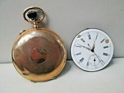 Antique Repeater Chronograph 14k Gold Hunter Case 3