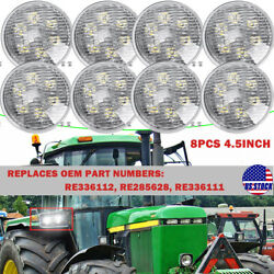 8x Round Led Fender Work Light For John Deere Compact Utility Tractors 2210