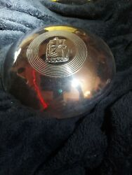 Vintage Plymouth Sailing Ship Dog Dish Hubcap 9 Mayflower Graphic Red Poverty
