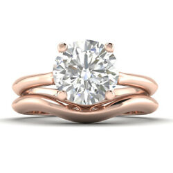 1ct G-si2 Diamond Vintage Engagement Ring 14k Rose Gold Any Size