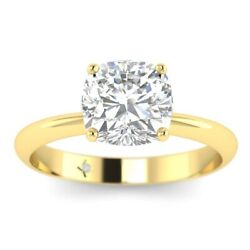1ct D-vs1 Diamond Tapered Engagement Ring 18k Yellow Gold Any Size