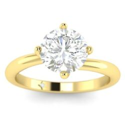 1ct D-vs1 Diamond Twist Engagement Ring 18k Yellow Gold Any Size