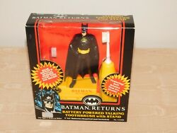 Vintage 1992 Dc Comics Batman Returns Battery Toothbrush And Stand New Old Stock
