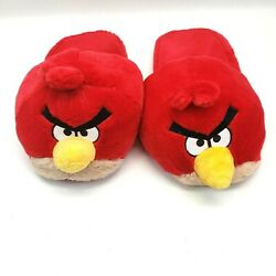 Red Angry Birds House Slippers Shoes Men M 9-10
