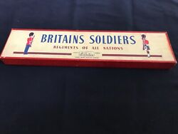 W Britains Soldiers - 1858 - British Infantry In Full Battle Dress. mint Cond.