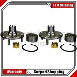 2 Skf Axle Bearing And Hub Assembly Repair Kit Front For Kia Spectra