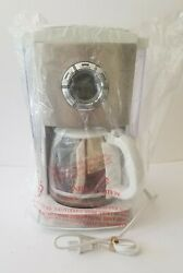 Gevalia Kaffe 12 Cup Automatic Coffee Maker Cm650 Stainless And White New