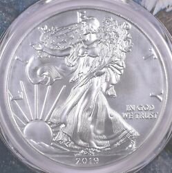 2019-w Burnished Silver Eagle 1 Oz Silver - Pcgs Sp70 First Day Of Issue