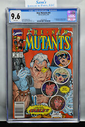 New Mutants 87 Cgc 9.6 ❄️snow White Pages❄️ 1990 Newstand Edition =1st Cable=