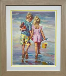 Lucelle Raad Harmony Hand Signed And Lmtd Edition Framed Children Litho Art