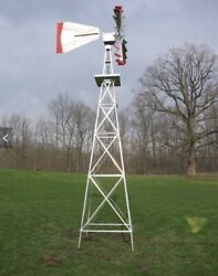 20 Ft Tall Aluminum Pond Aerator Windmill, Hand Made In The Usa Go Green