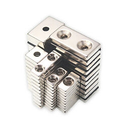 N35 Large And Small Neodymium Magnets Squares Rectangle Block Single/ Double Hole