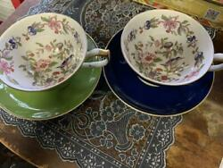 Aynsley Cup And Saucer Pembroke 2 Set Teacup Tableware No Box