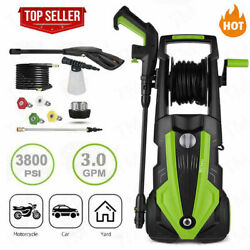 3800psi Pressure Washer 3.0gpm Portable Electric High Power Washer Machine 1800w