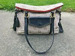 Dooney And And Bourke Florentine Jacquard The Smith Bag Monogram Roll Top Shopper
