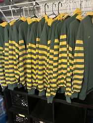 Vintage Rugby Canterbury Jerseys Full Team 16 Shirts All Mens Large Yellow/green