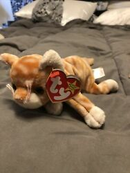 Ty Beanie Baby Amber. Retired Tag Errors Mint Condition